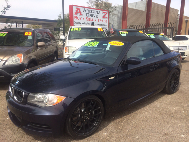 2008 BMW 1 SERIES 135I CONVERTIBLE dark blue 104000 miles VIN WBAUN93528VE94228