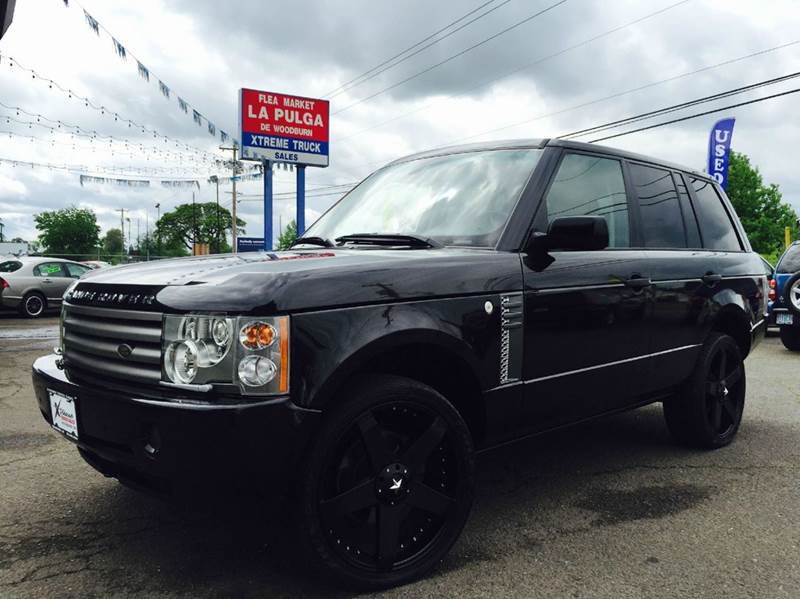 2004 land rover range rover hse 4wd 4dr suv in woodburn or xtreme truck sales. Black Bedroom Furniture Sets. Home Design Ideas
