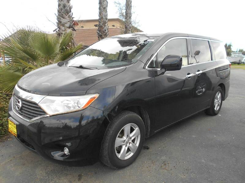 2012 NISSAN QUEST 35 SV 4DR MINI VAN black 2-stage unlocking doors abs - 4-wheel active head re