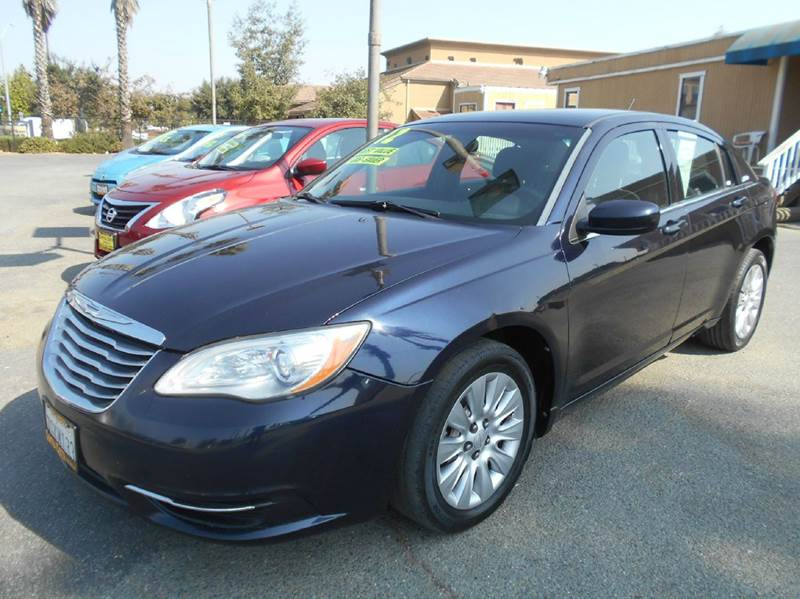 2012 CHRYSLER 200 LX 4DR SEDAN blue 2-stage unlocking doors abs - 4-wheel active head restraint