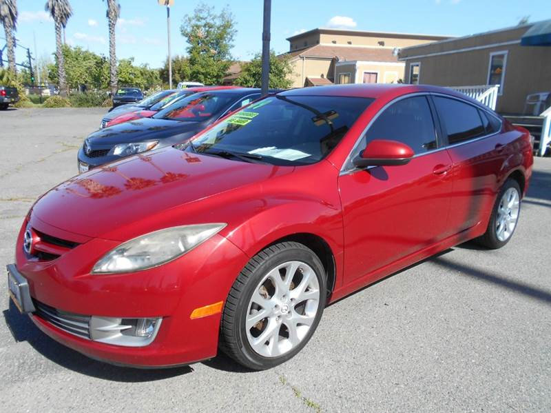 2009 MAZDA MAZDA6 S TOURING 4DR SEDAN 6A red 2-stage unlocking doors abs - 4-wheel active head