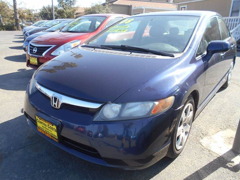 2008 HONDA CIVIC LX 4DR SEDAN 5A blue abs - 4-wheel air filtration airbag deactivation - occupa