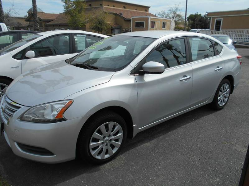 2014 NISSAN SENTRA SV 4DR SEDAN silver 2-stage unlocking doors abs - 4-wheel active head restra