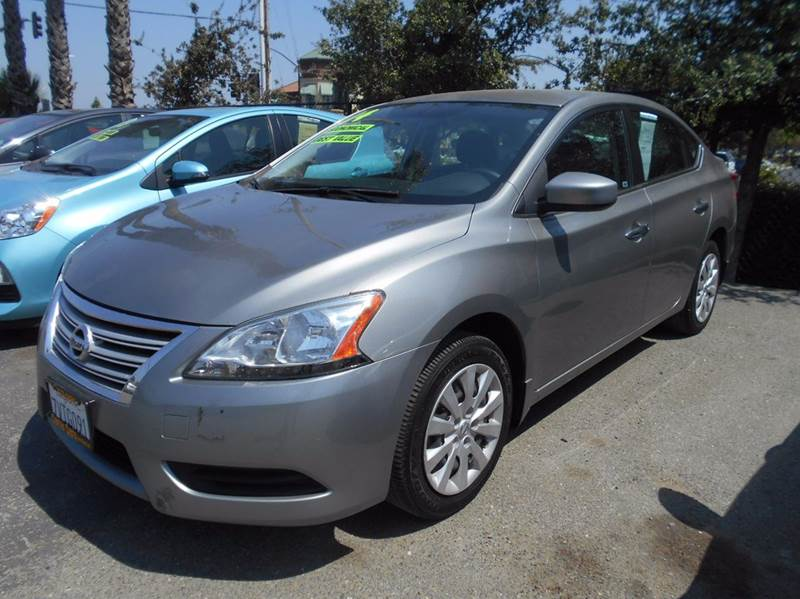 2014 NISSAN SENTRA SV 4DR SEDAN gray 2-stage unlocking doors abs - 4-wheel active head restrain