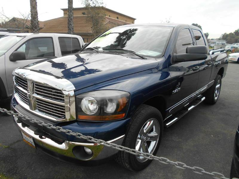 2008 DODGE RAM PICKUP 1500 BIG HORN 4DR QUAD CAB SB RWD blue 2-stage unlocking doors abs - rear