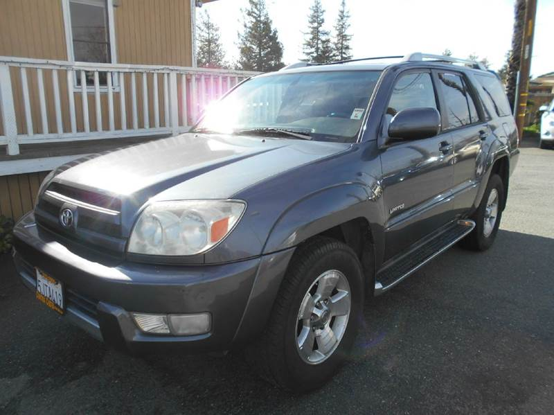 2004 TOYOTA 4RUNNER LIMITED 4DR SUV blue abs - 4-wheel anti-theft system - alarm axle ratio - 3