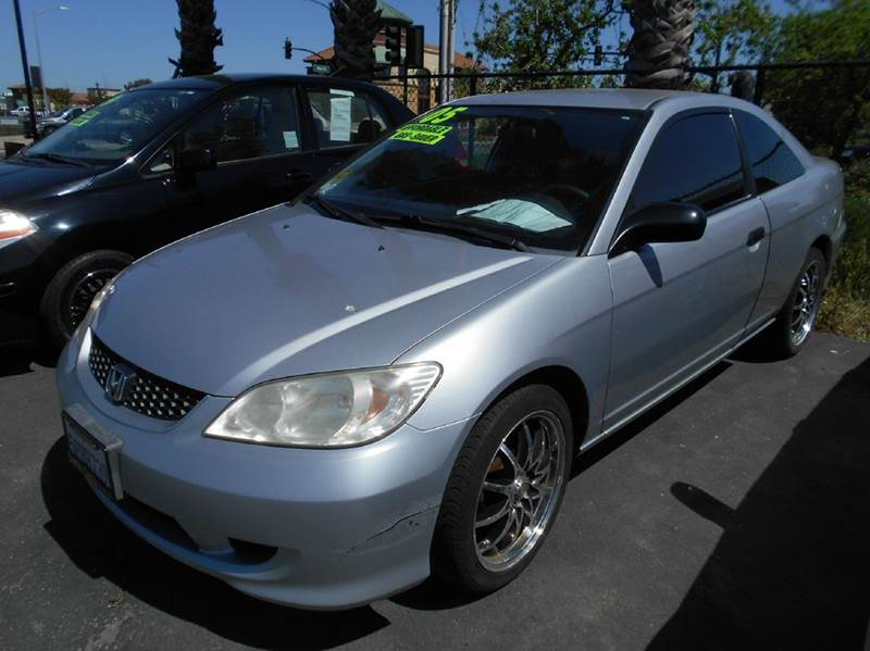 2005 HONDA CIVIC VALUE PACKAGE 2DR COUPE silver cd changer center console front air conditionin
