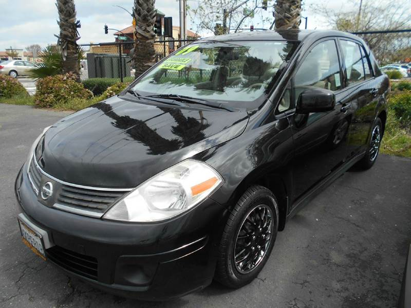 2009 NISSAN VERSA 18 S 4DR SEDAN 4A black active head restraints - dual front air filtration a
