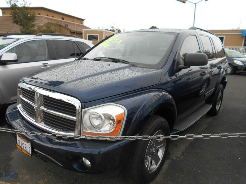 2005 DODGE DURANGO LIMITED 4DR SUV W FRONT REAR A blue abs - 4-wheel adjustable pedals - power
