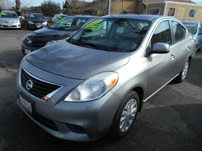 2013 NISSAN VERSA 16 S 4DR SEDAN 5M black abs - 4-wheel active head restraints - dual front ai