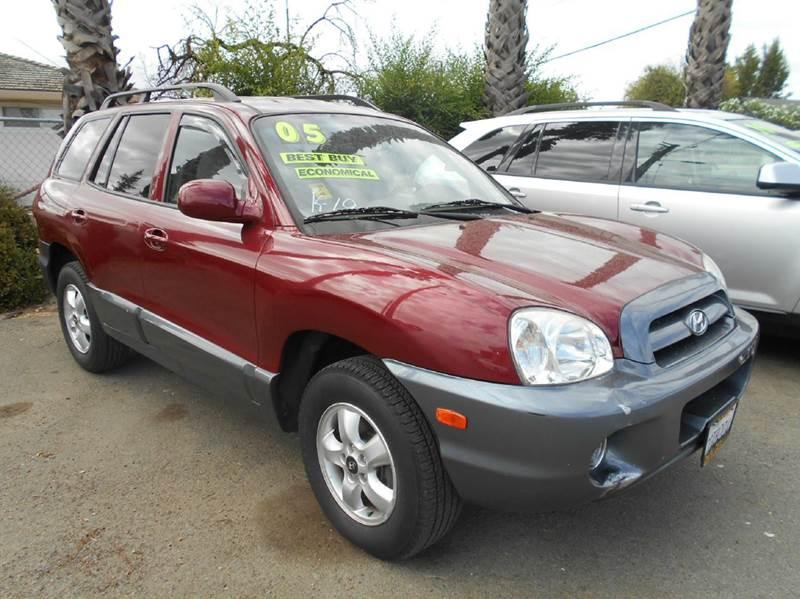 2005 HYUNDAI SANTA FE GLS AWD 4DR SUV red abs - 4-wheel anti-theft system - alarm cassette cen