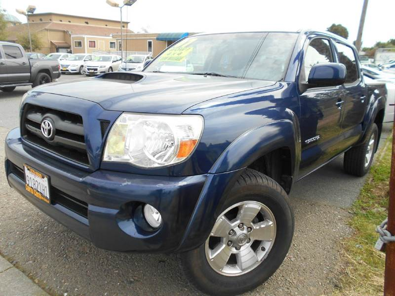 2007 TOYOTA TACOMA V6 4DR DOUBLE CAB 4WD 50 FT TR blue 2-stage unlocking doors 4wd selector -