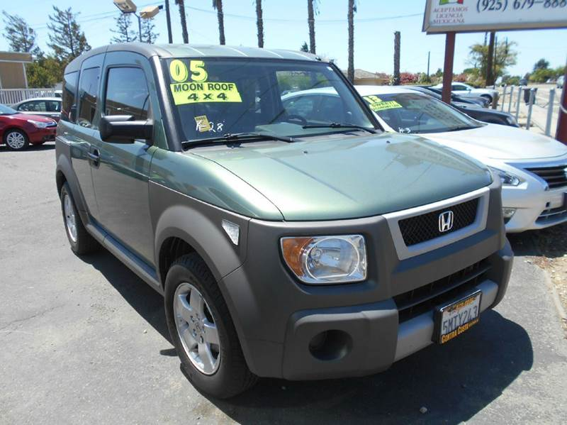 2005 HONDA ELEMENT EX AWD 4DR SUV green 4wd type - on demand abs - 4-wheel center differential