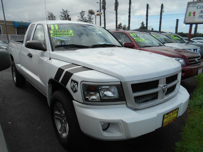 2011 RAM DAKOTA LONE STAR 4X2 4DR EXTENDED CAB white 2-stage unlocking doors abs - 4-wheel airb