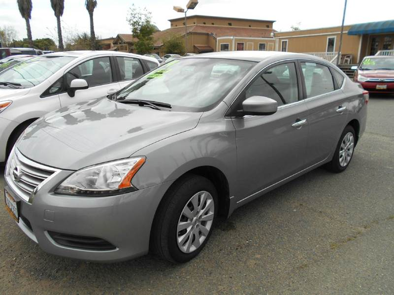 2014 NISSAN SENTRA S 4DR SEDAN CVT gray 2-stage unlocking doors abs - 4-wheel active head restr