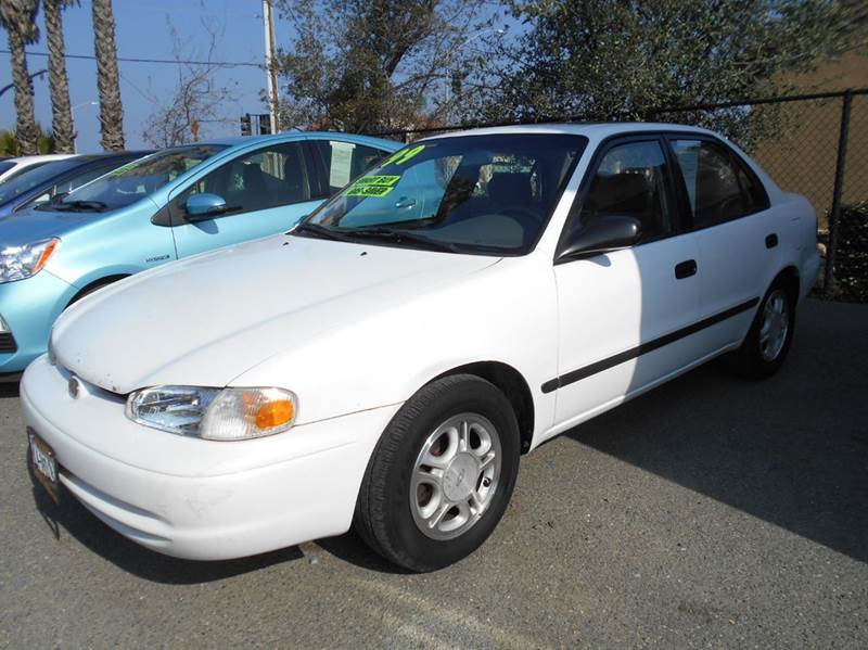 1999 CHEVROLET PRIZM BASE 4DR SEDAN white front airbags - dual front seat type - bucket front w