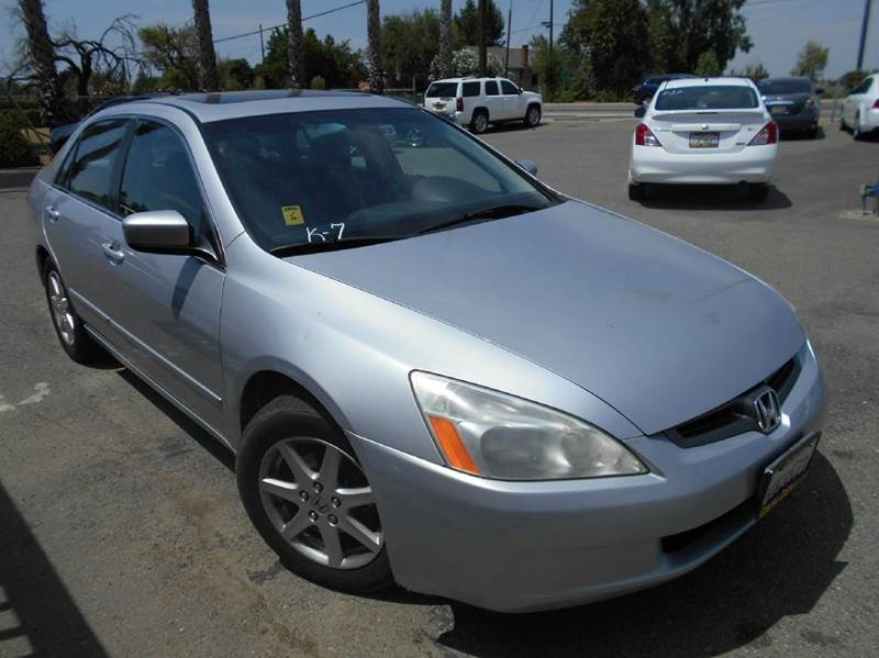 2003 HONDA ACCORD EX V-6 4DR SEDAN silver abs - 4-wheel anti-theft system - alarm cd changer c