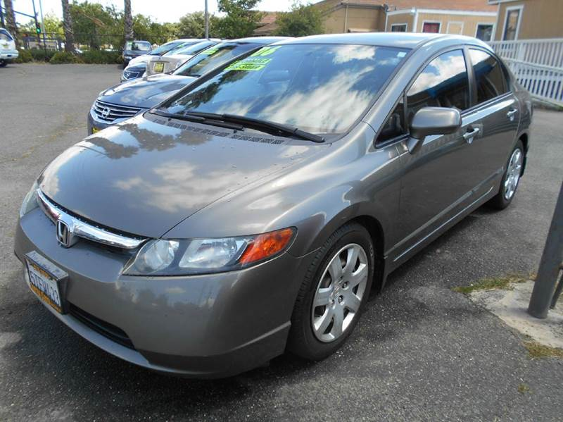 2006 HONDA CIVIC LX 4DR SEDAN WAUTOMATIC charcoal abs - 4-wheel active head restraints - dual f