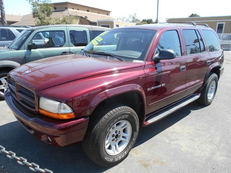 2001 DODGE DURANGO SLT 4WD 4DR SUV maroon abs - rear axle ratio - 355 cassette center console
