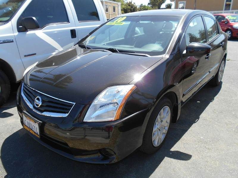 2010 NISSAN SENTRA 20 4DR SEDAN CVT black 2-stage unlocking doors active head restraints - dual