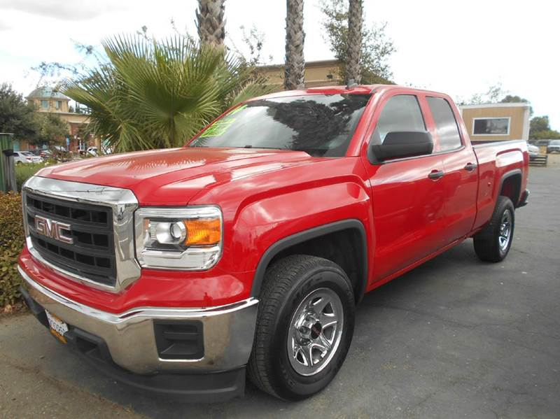 2014 GMC SIERRA 1500 BASE 4X2 4DR DOUBLE CAB 65 FT red abs - 4-wheel airbag deactivation - occ