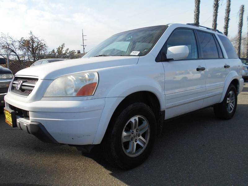 2005 HONDA PILOT EX L 4DR 4WD SUV WLEATHER AND E white 4wd type - on demand abs - 4-wheel air