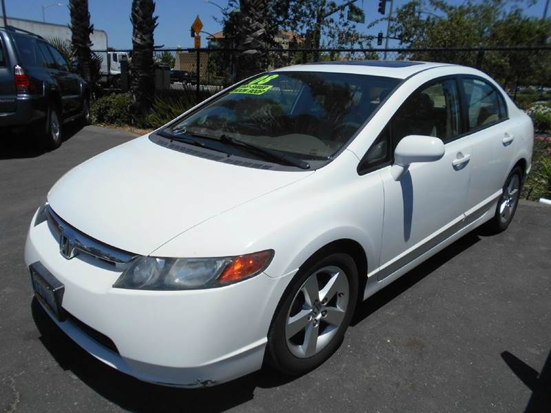 2008 HONDA CIVIC EX 4DR SEDAN 5A white abs - 4-wheel air filtration airbag deactivation - occup