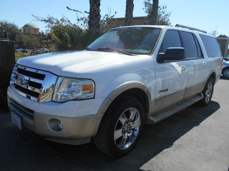 2007 FORD EXPEDITION EL EDDIE BAUER 4DR SUV 4X4 white 2-stage unlocking doors 4wd selector - elec