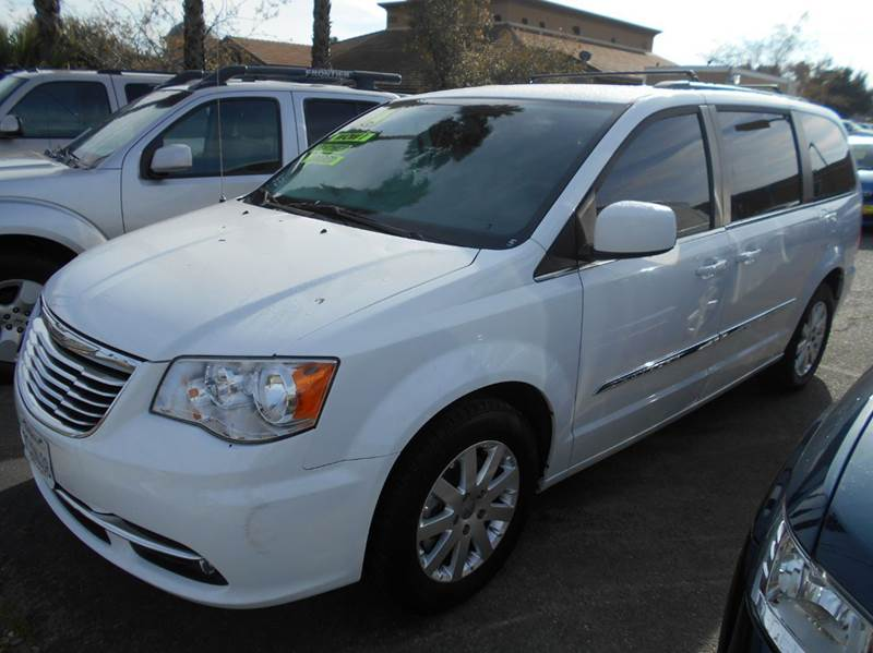 2014 CHRYSLER TOWN AND COUNTRY TOURING 4DR MINI VAN white 2-stage unlocking doors abs - 4-wheel