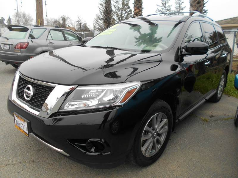 2014 NISSAN PATHFINDER SV 4DR SUV black 2-stage unlocking doors abs - 4-wheel air filtration ai