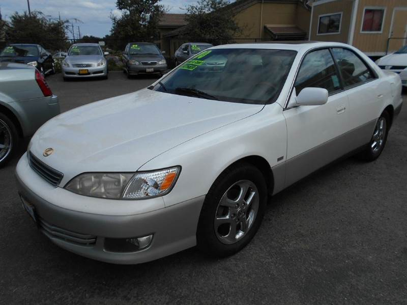 2000 LEXUS ES 300 BASE 4DR SEDAN white abs - 4-wheel anti-theft system - alarm cassette center