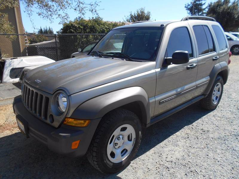 2006 JEEP LIBERTY SPORT 4DR SUV gold abs - 4-wheel airbag deactivation - occupant sensing passen
