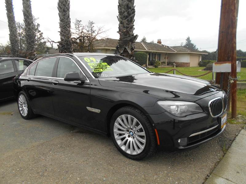 2009 BMW 7 SERIES 750LI 4DR SEDAN black 2-stage unlocking doors abs - 4-wheel active head restra