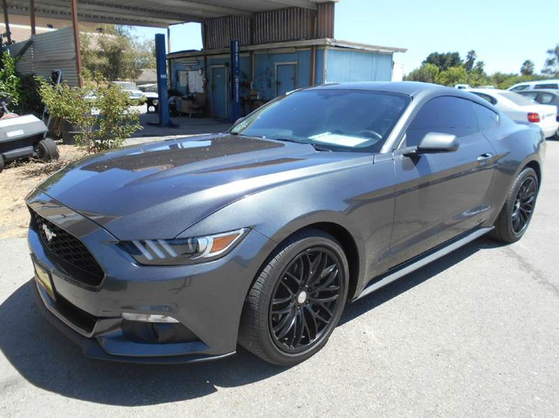 2015 FORD MUSTANG ECOBOOST 2DR FASTBACK charoal 2-stage unlocking doors abs - 4-wheel air filtr