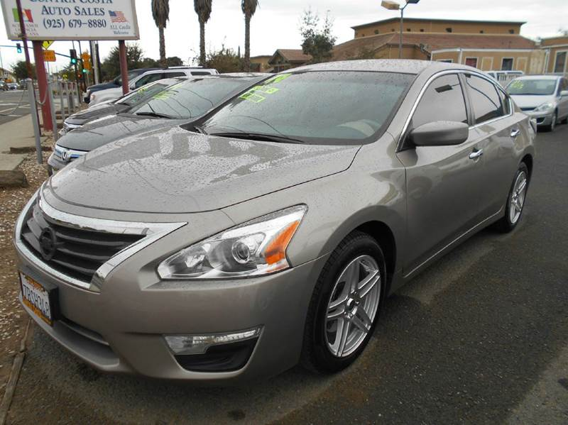2014 NISSAN ALTIMA 25 S 4DR SEDAN gold 2-stage unlocking abs - 4-wheel active head restraints