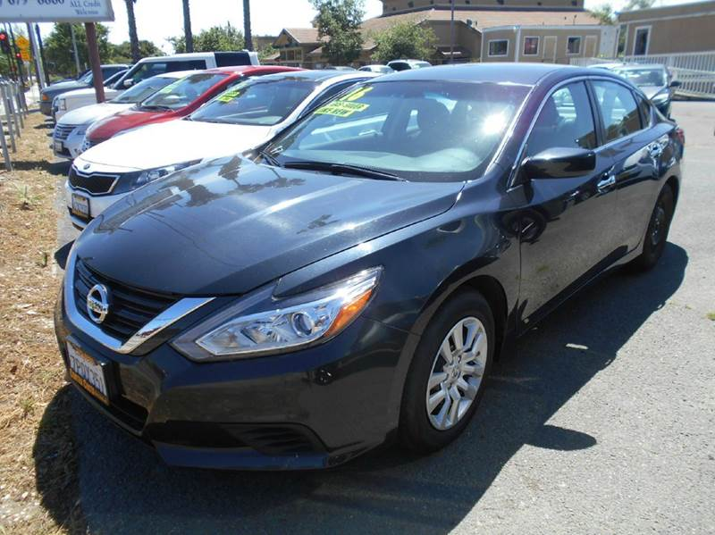 2016 NISSAN ALTIMA 25 S 4DR SEDAN charcoal 2-stage unlocking doors abs - 4-wheel active grille