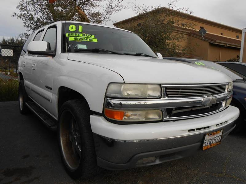 2001 CHEVROLET TAHOE LT 2WD 4DR SUV white abs - 4-wheel anti-theft system - alarm cassette cen