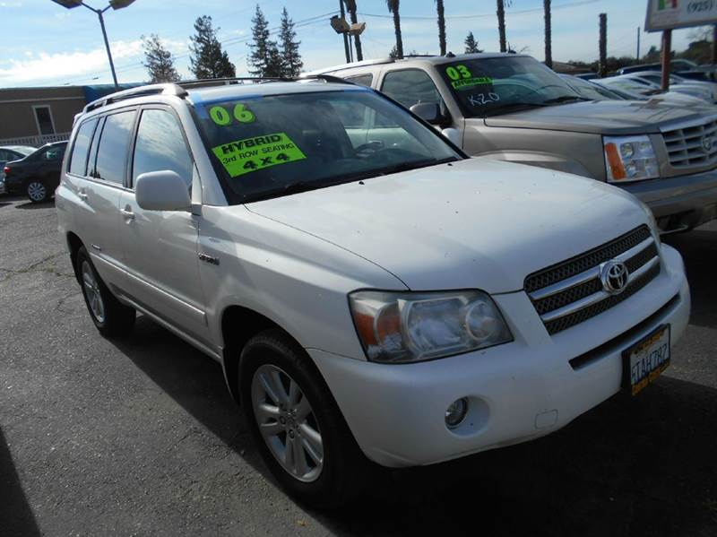 2006 TOYOTA HIGHLANDER HYBRID BASE AWD 4DR SUV white 4wd type - part time abs - 4-wheel air fil