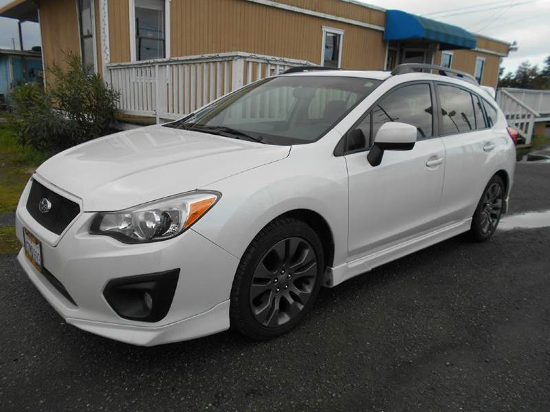 2013 SUBARU IMPREZA 20I SPORT LIMITED AWD 4DR WAGON white 2-stage unlocking doors 4wd type - ful