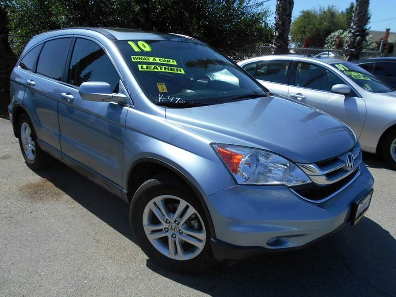 2010 HONDA CR-V EX-L WNAVI AWD 4DR SUV WNAVI blue 2-stage unlocking - remote 4wd type - on dem