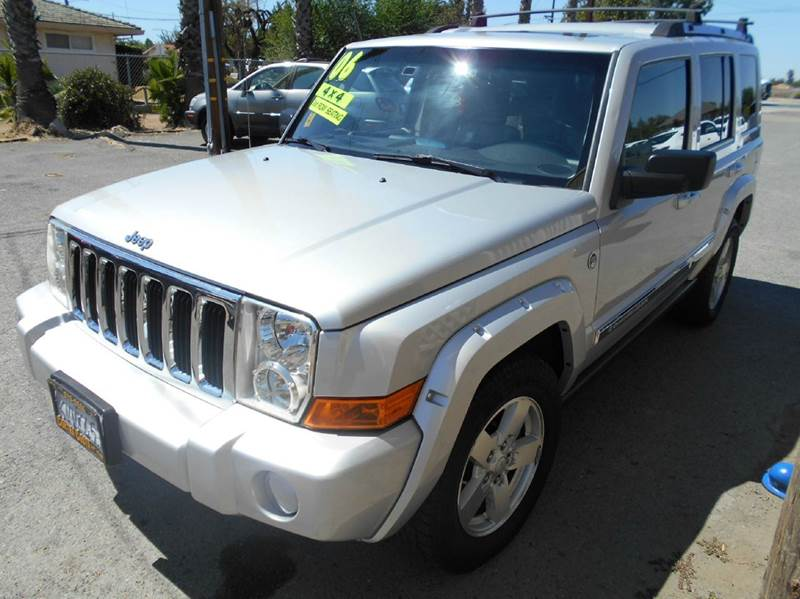 2006 JEEP COMMANDER LIMITED 4DR SUV 4WD silver 4wd type - full time abs - 4-wheel adjustable pe