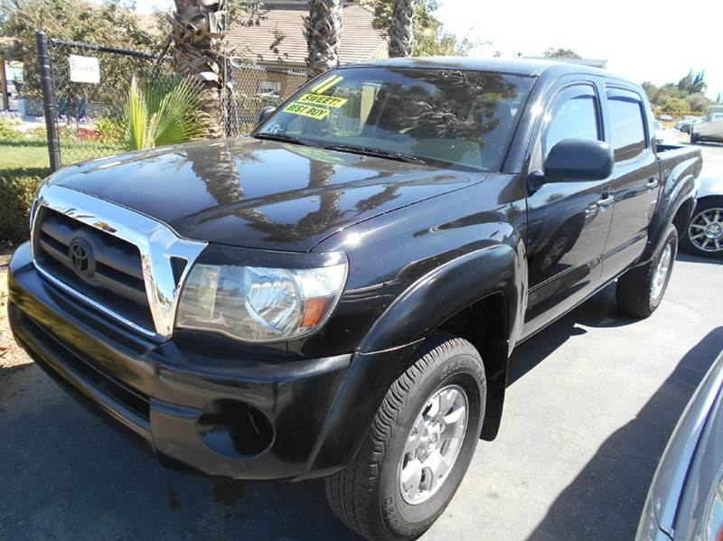 2011 TOYOTA TACOMA PRERUNNER V6 4X2 4DR DOUBLE CAB black abs - 4-wheel active head restraints -