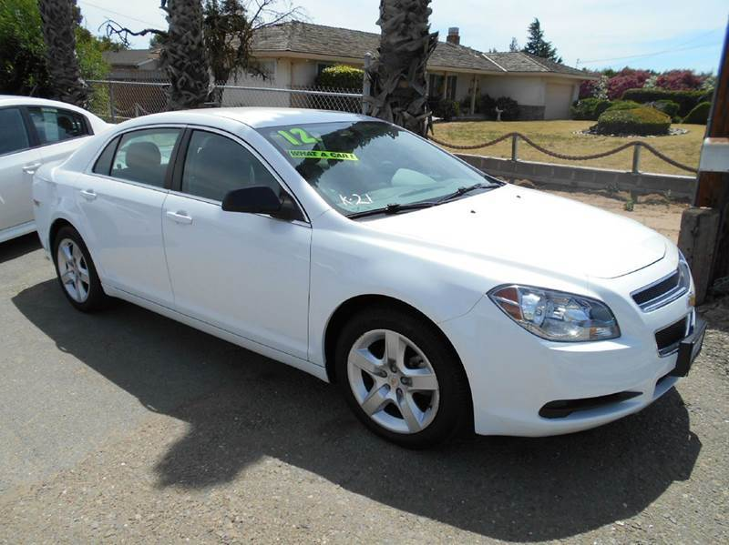 2012 CHEVROLET MALIBU white amfm radio wcd player cruise control driver and passenger front a