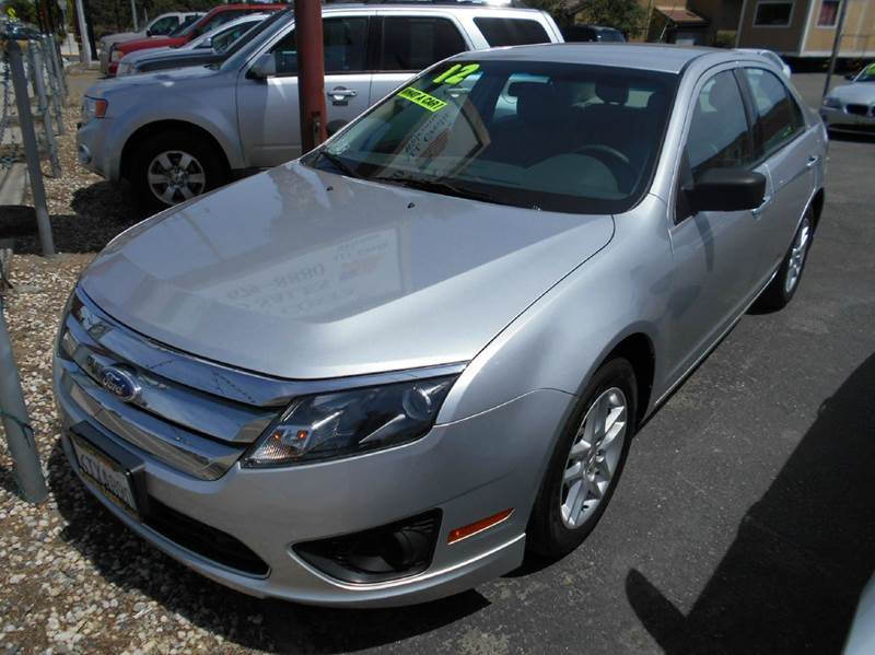 2012 FORD FUSION S 4DR SEDAN silver 2-stage unlocking abs - 4-wheel air filtration airbag deac