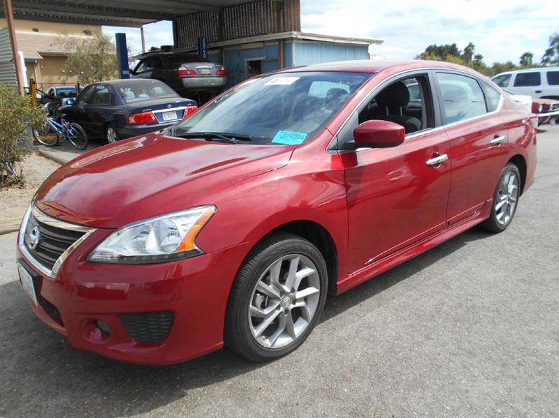 2014 NISSAN SENTRA S 4DR SEDAN CVT red 2-stage unlocking - remote abs - 4-wheel active head res
