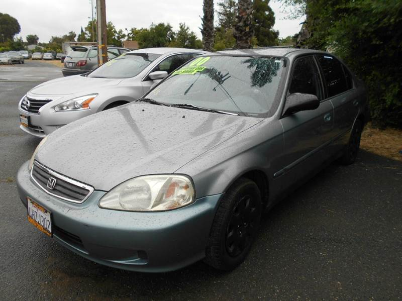 2000 HONDA CIVIC VP 4DR SEDAN blue center console cruise control front air conditioning front