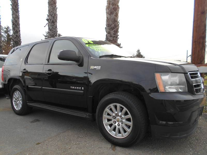 2008 CHEVROLET TAHOE HYBRID 4X2 4DR SUV black abs - 4-wheel airbag deactivation - occupant sensi