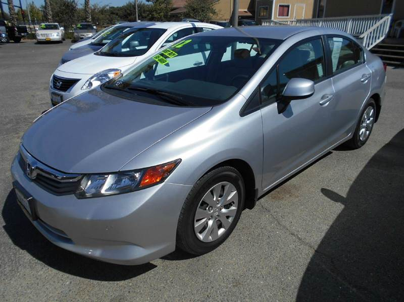 2012 HONDA CIVIC LX 4DR SEDAN 5A silver 2-stage unlocking abs - 4-wheel active head restraints