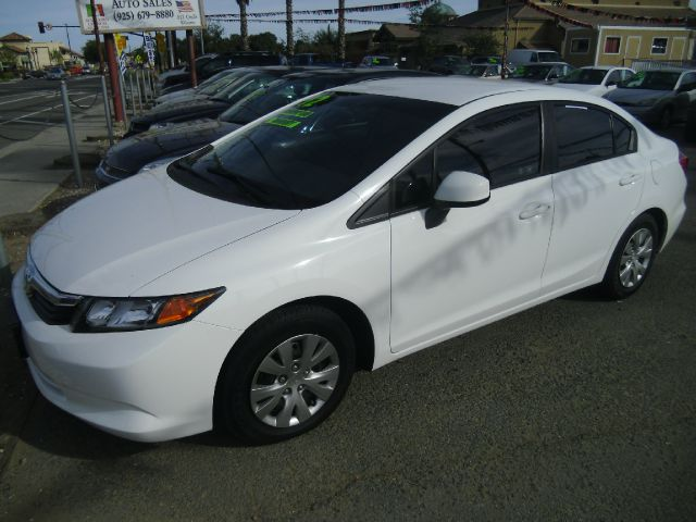 2012 HONDA CIVIC LX 4DR SEDAN 5A white 2-stage unlocking abs - 4-wheel active head restraints -