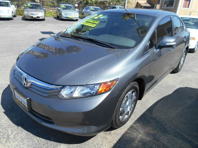 2012 HONDA CIVIC HYBRID WLEATHER 4DR SEDAN WLEA charcoal 2-stage unlocking abs - 4-wheel acti